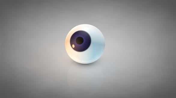 Oeil C4D violet